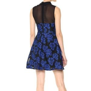 Betsey Johnson Dresses - Betsey Johnson Blue Floral Illusion A-Line Dress